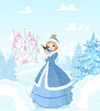 Zimy princess royalty ilustracja