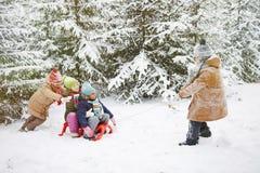 Zimy przejażdżka Fotografia Royalty Free