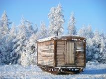 Zimy przyczepa dla pracowników Obrazy Royalty Free