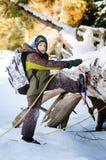 Zimy przygoda fotografia royalty free