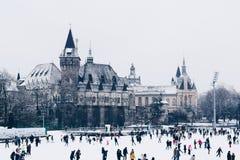 Zimy przyjemność, Budapest Węgry 2018 Grudzień obraz royalty free