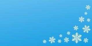 Zimy rama, pojęcie, pocztówka z płatek śniegu ilustracji
