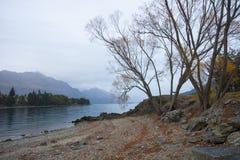 Zimy Ranek jezioro Wakatipu Obrazy Royalty Free
