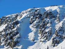 Zimy średniogórza krajobraz Fotografia Royalty Free