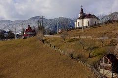 Zimy romanian krajobraz Obrazy Royalty Free