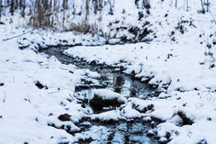 Zimy rzeka Zdjęcie Stock