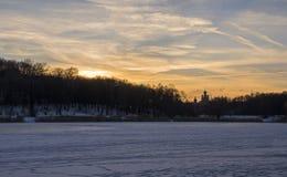 Zimy rzeka Zdjęcie Royalty Free