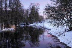 Zimy rzeka fotografia stock
