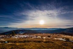 Zimy słońca góra Zdjęcia Stock