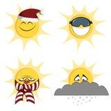 Zimy słońca maskotki ilustracja wektor