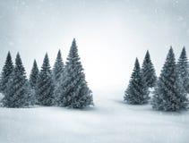 Zimy scena ilustracji