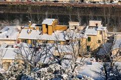 Zimy scena w Florencja Obraz Royalty Free