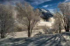 Zimy sceneria obraz royalty free