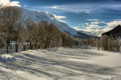 Zimy sceneria fotografia stock