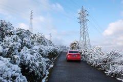 Zimy sceneria Po śniegu Zdjęcia Royalty Free