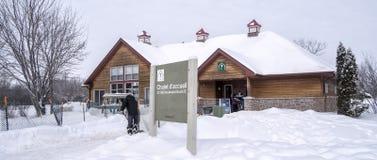 Zimy sceny Jacques natury parka szalet Zdjęcie Royalty Free