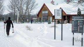 Zimy sceny Jacques natury parka szalet Obraz Royalty Free