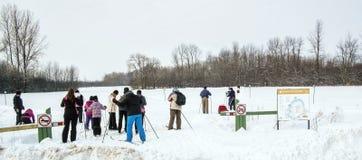 Zimy sceny Jacques natury parka szalet Zdjęcie Stock