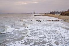 Zimy seacoast Obrazy Royalty Free