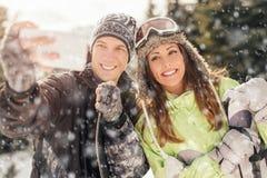Zimy selfie Obraz Royalty Free