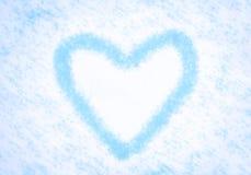 Zimy serce Obrazy Royalty Free