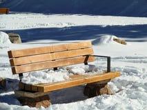 zimy siedzenie Zdjęcia Stock