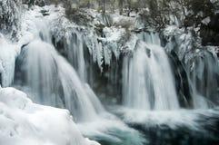Zimy siklawa zdjęcie stock
