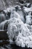 Zimy siklawa Zdjęcia Stock