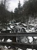 Zimy siklawa obrazy stock