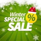 Zimy specjalna sprzedaż Zdjęcia Stock