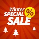 Zimy specjalnej sprzedaży plakat Zdjęcie Stock