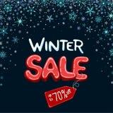 Zimy sprzedaż do 70% z sztandaru zdjęcia stock