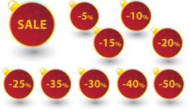 Zimy sprzedaży etykietki żarówki ustawiać Obraz Stock