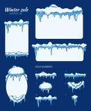 Zimy sprzedaży majchery, etykietki i sztandary z, royalty ilustracja