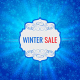Zimy sprzedaży projekta plakatowy szablon lub tło Kreatywnie biznesowy promocyjny wektor Obrazy Royalty Free