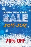 Zimy sprzedaży tła nowego roku ilustracyjny Zdjęcia Royalty Free