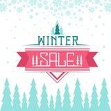 Zimy sprzedaży tło zdjęcia stock