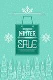 Zimy sprzedaży tło zdjęcie stock