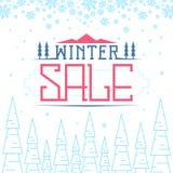 Zimy sprzedaży tło fotografia stock