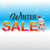 Zimy sprzedaży tło Obrazy Stock