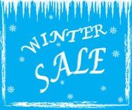 Zimy sprzedaży tekst na błękitnym tle Zdjęcie Royalty Free