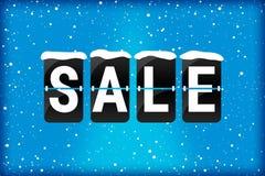 Zimy sprzedaży trzepnięcia teksta analogowy błękit zdjęcia royalty free