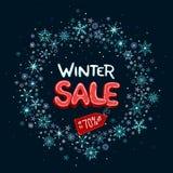 Zimy sprzedaż do 70% z sztandaru ilustracji
