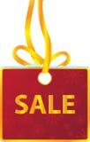 Zimy sprzedaży etykietki giftbox obwieszenie Zdjęcia Royalty Free