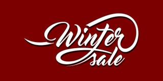 Zimy sprzedaży kaligraficzny tekst royalty ilustracja