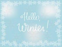 Zimy tło dla prezentaci, przestrzeń dla teksta Fotografia Royalty Free
