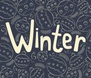 Zimy tło z kędziorami Zdjęcie Stock