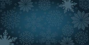 Zimy tło z płatkami śniegu i kopii przestrzenią Zdjęcia Stock
