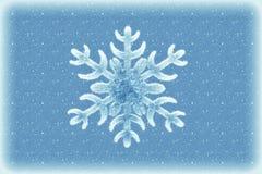 Zimy tło z płatkiem śniegu Obraz Royalty Free