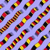 Zimy tło z Niemcy flaga Scarves Bezszwowy wektoru pa Obrazy Stock
